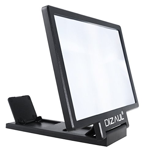 Screen Magnifier Dizaul Cell Phone 3D HD Movie Video Amplifier with Foldable Holder Stand for Samsung Galaxy S7// S7 Edge Black All Other Smart Phones